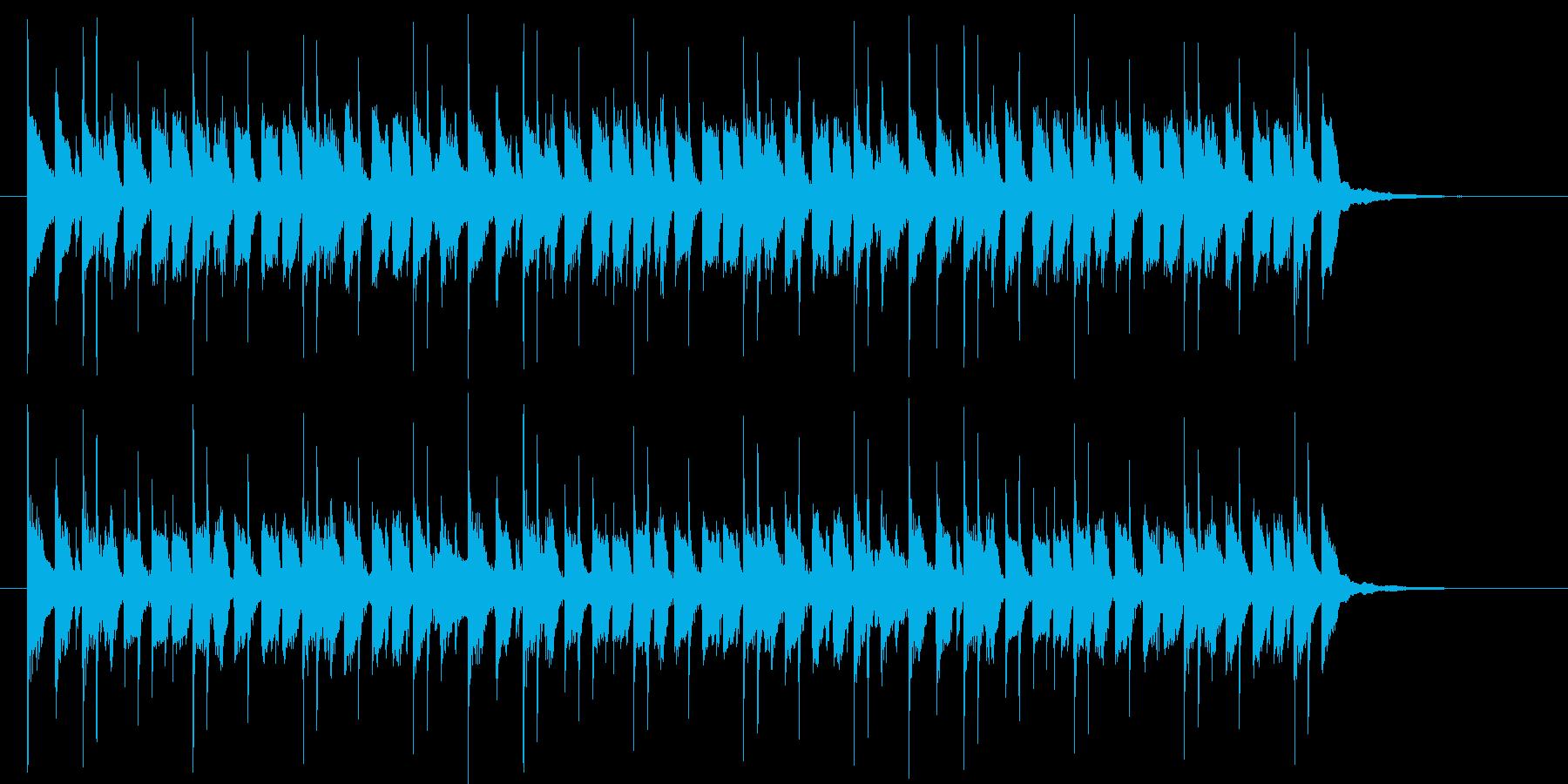 映像音楽等に。ワクワクするピアノポップの再生済みの波形