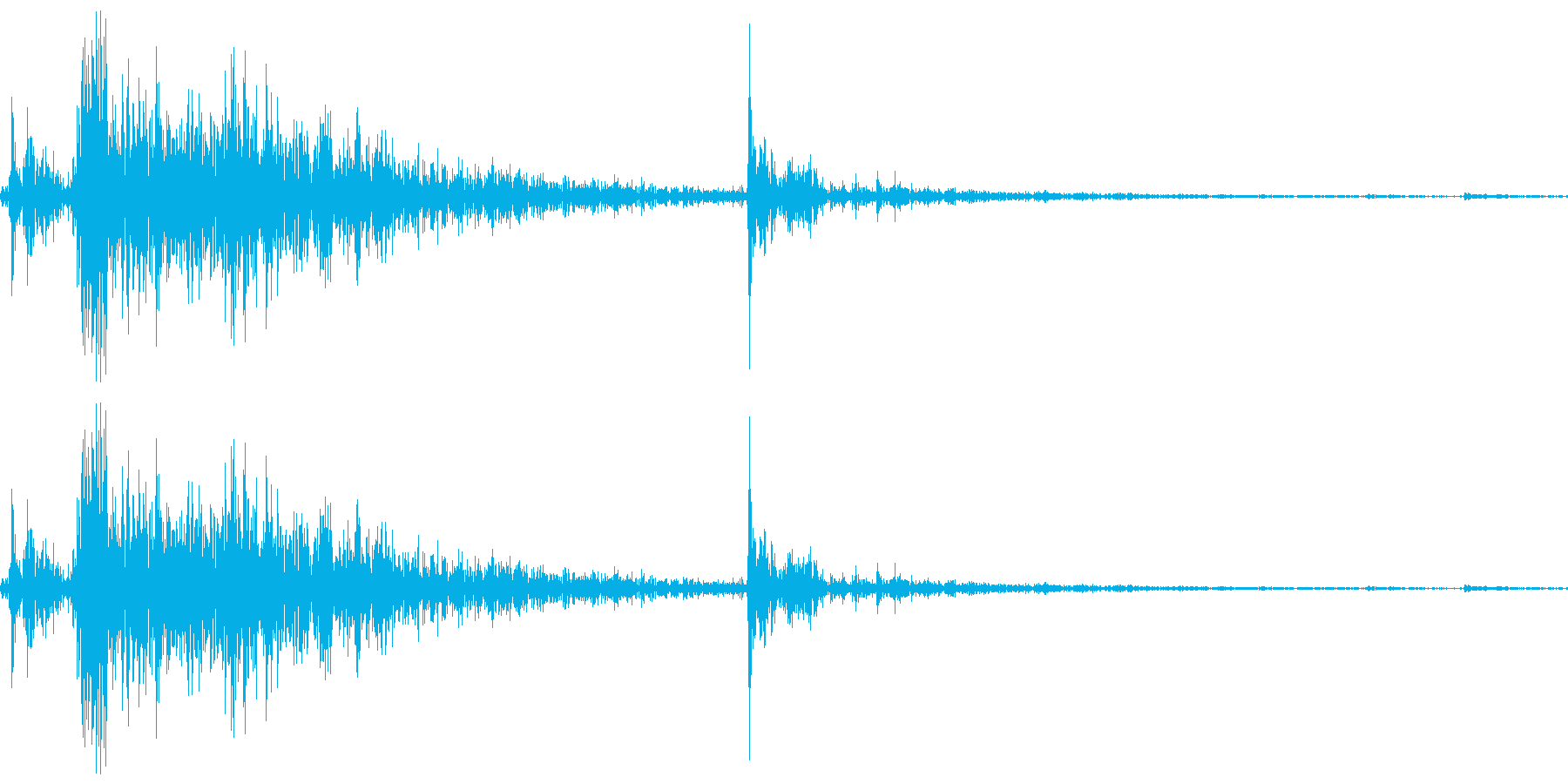 鳴子(なるこ)の再生済みの波形