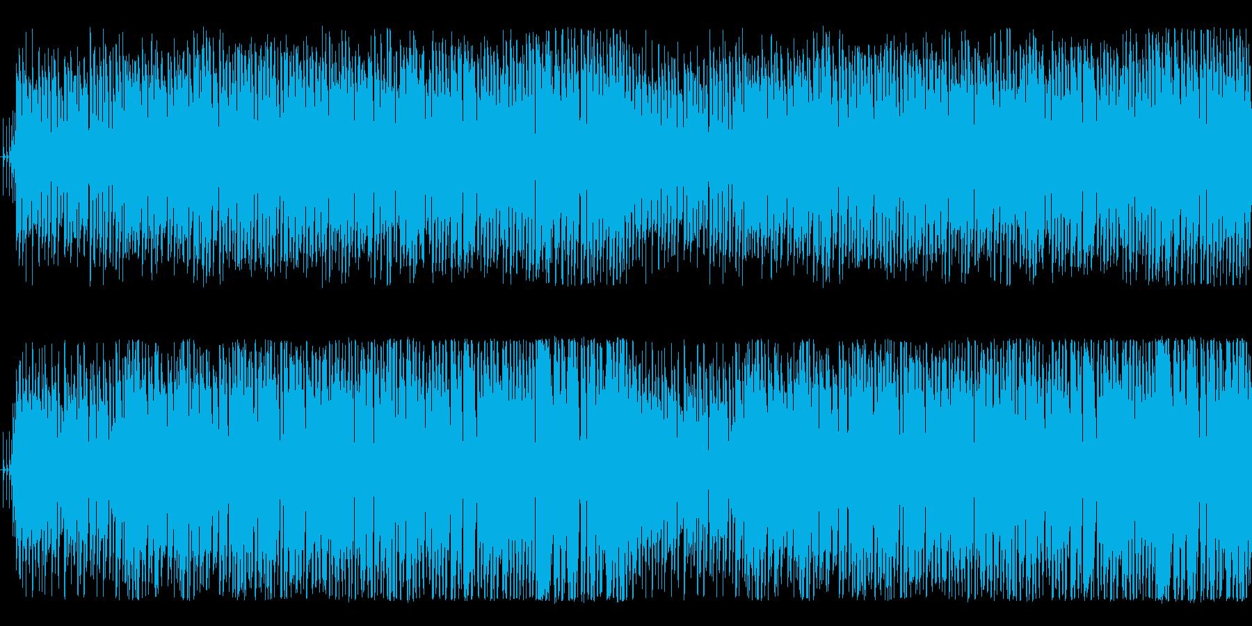 酒場の曲の再生済みの波形
