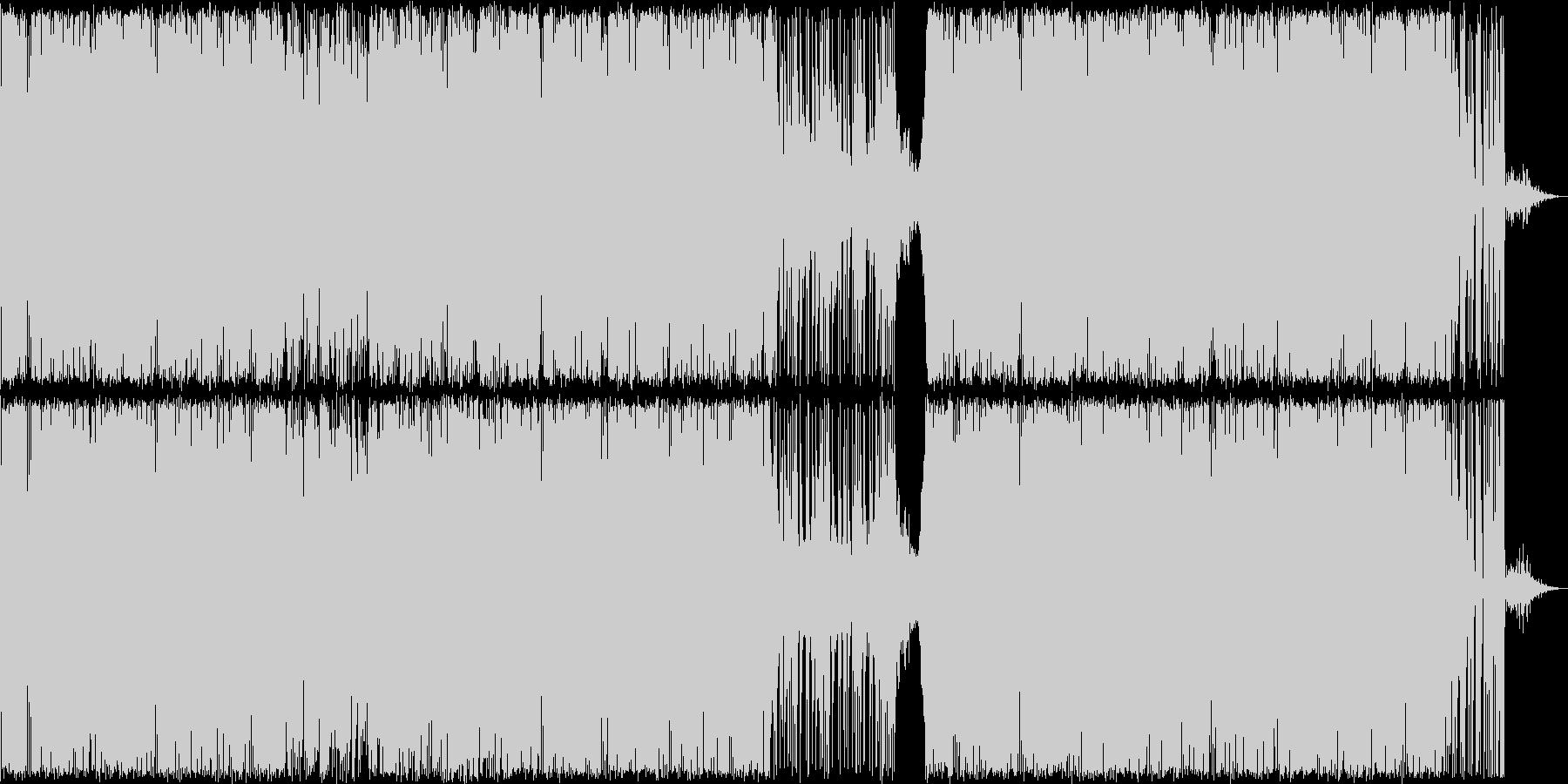 「わくわく突き進むイメージのBGMの未再生の波形