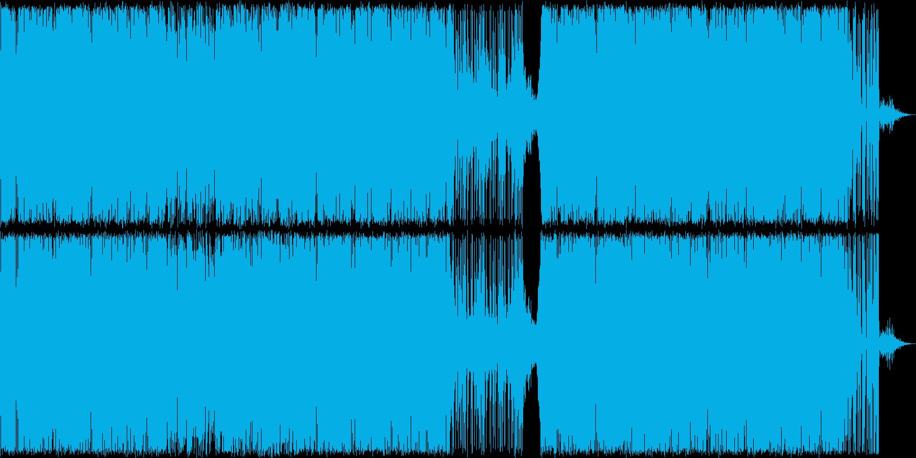 「わくわく突き進むイメージのBGMの再生済みの波形