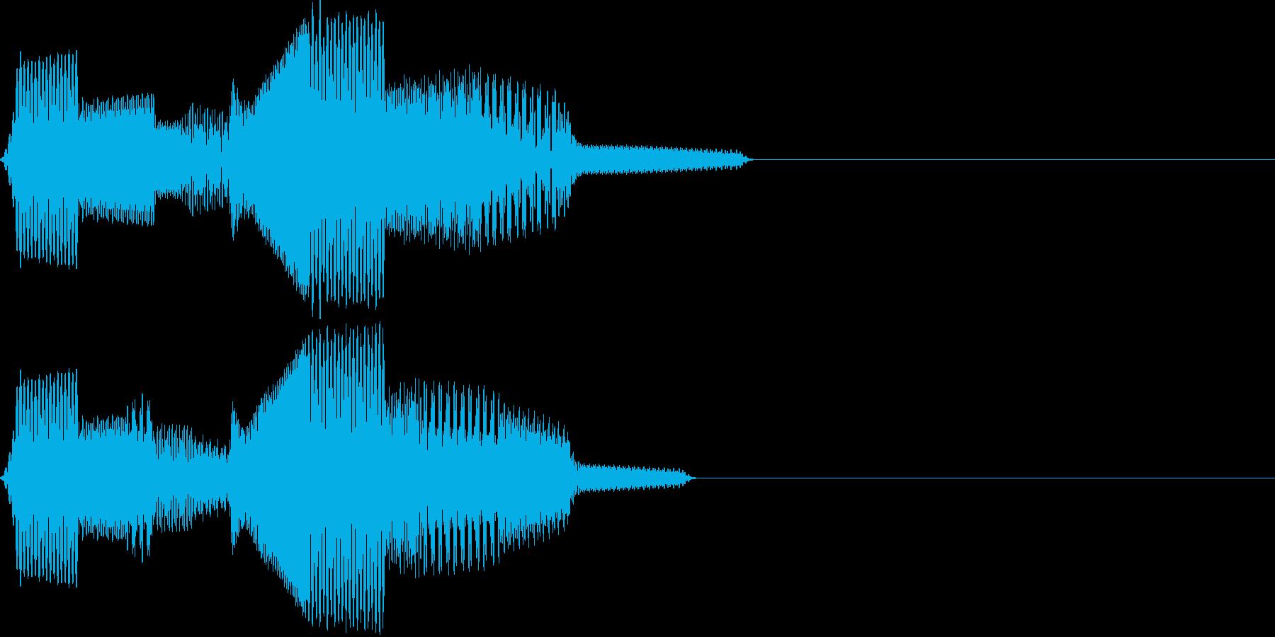 ポコポン(click_043_ボタン)の再生済みの波形