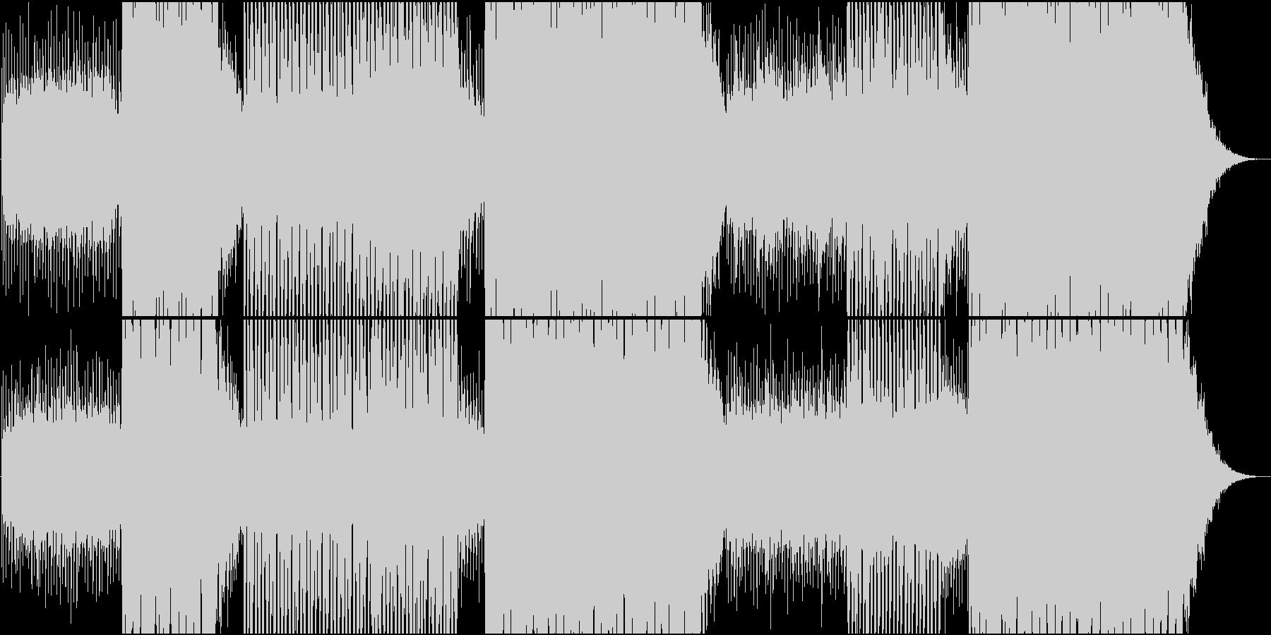 EDM映像用シーケンスが美しい静かな楽曲の未再生の波形