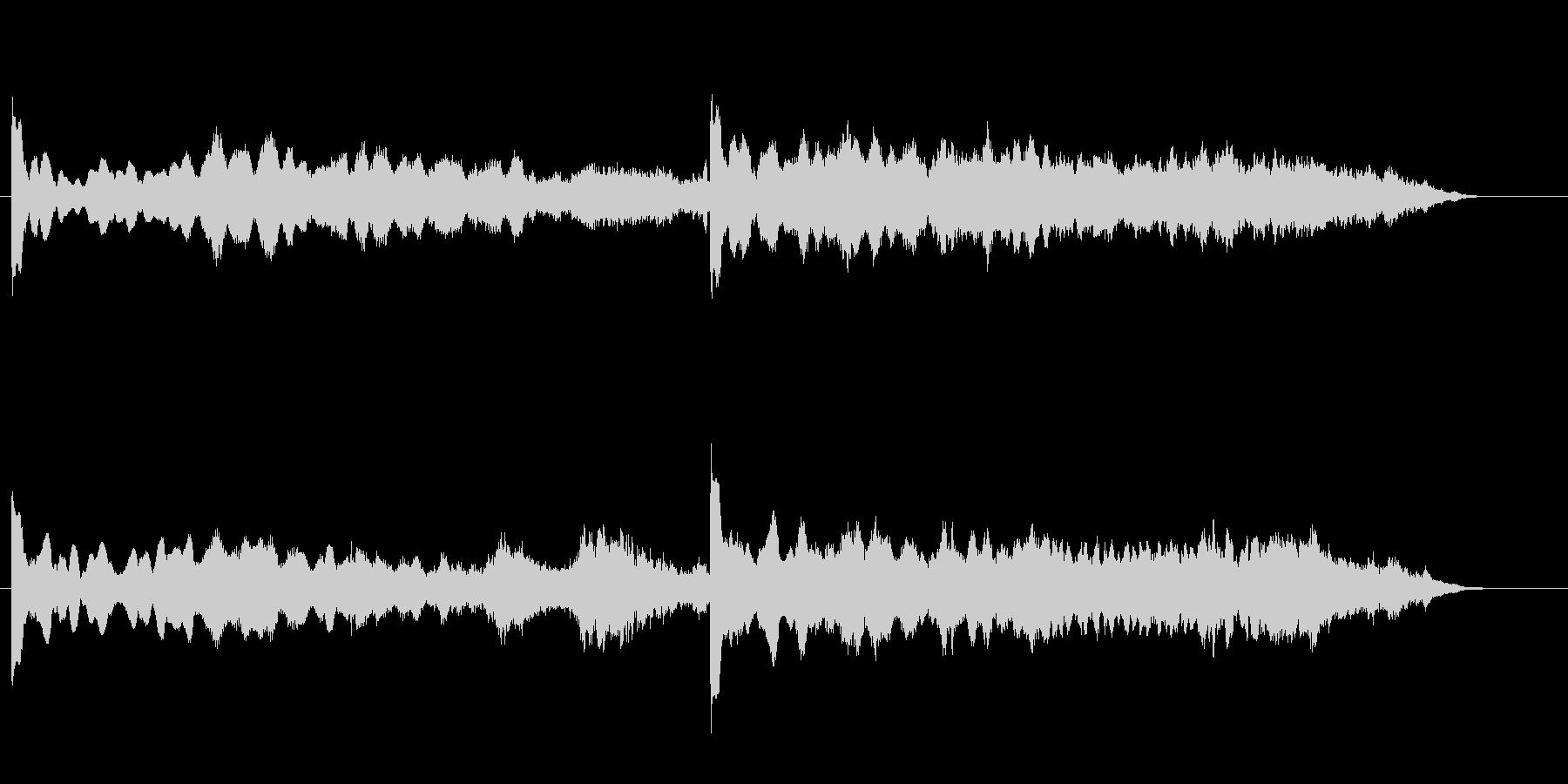 環境音楽(無機質な調べ)の未再生の波形