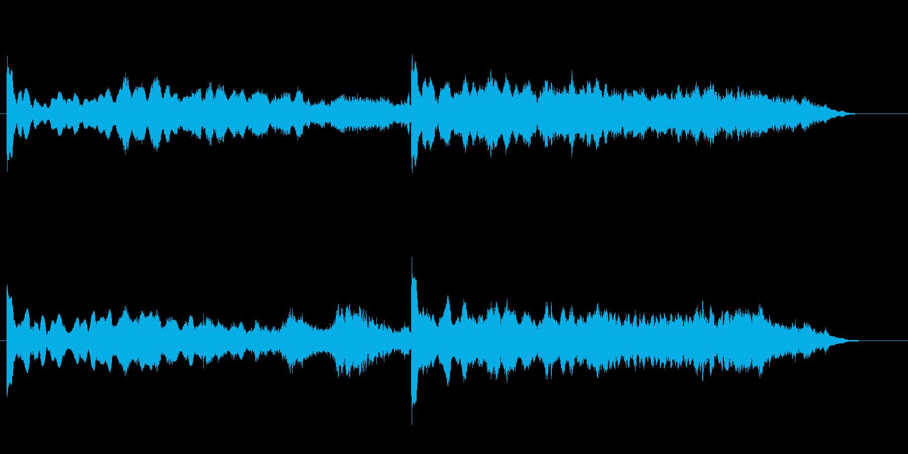 環境音楽(無機質な調べ)の再生済みの波形