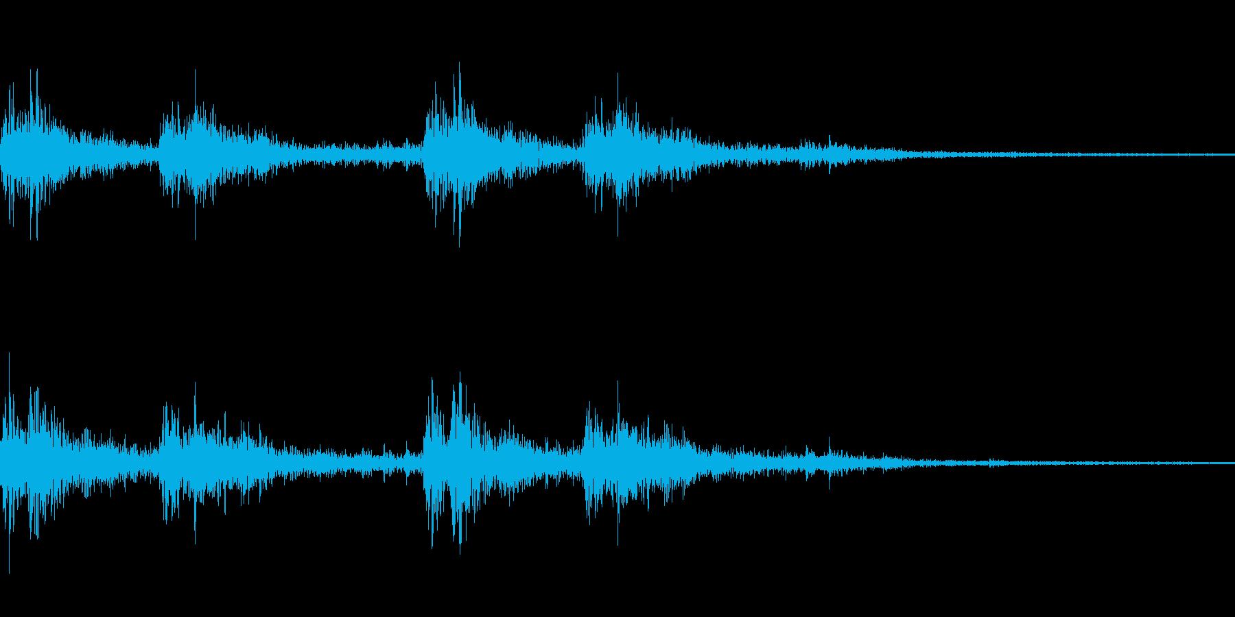ガタンゴトン02(電車)の再生済みの波形