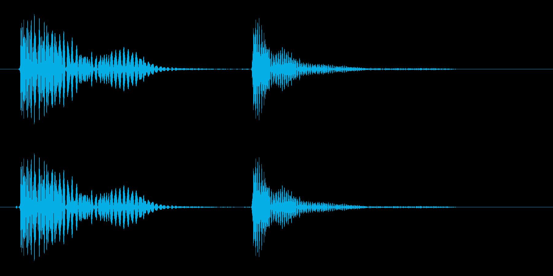 トテ(こける、転倒をイメージする音)の再生済みの波形
