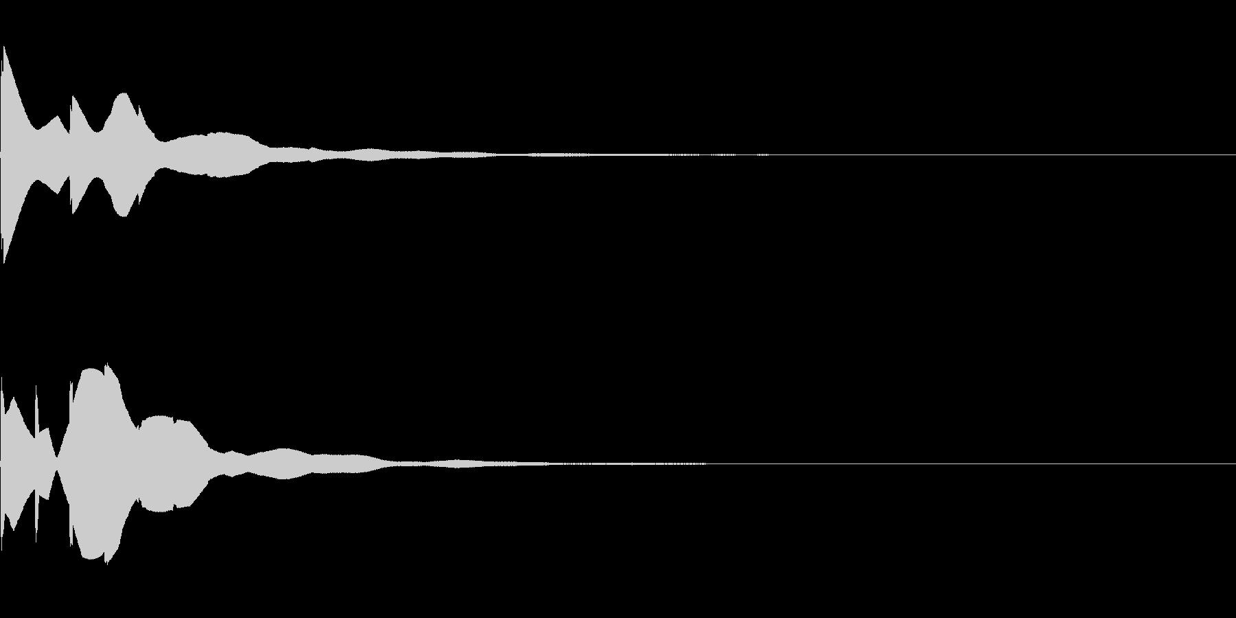 ボタン 決定 OK 反響する音 タッチの未再生の波形