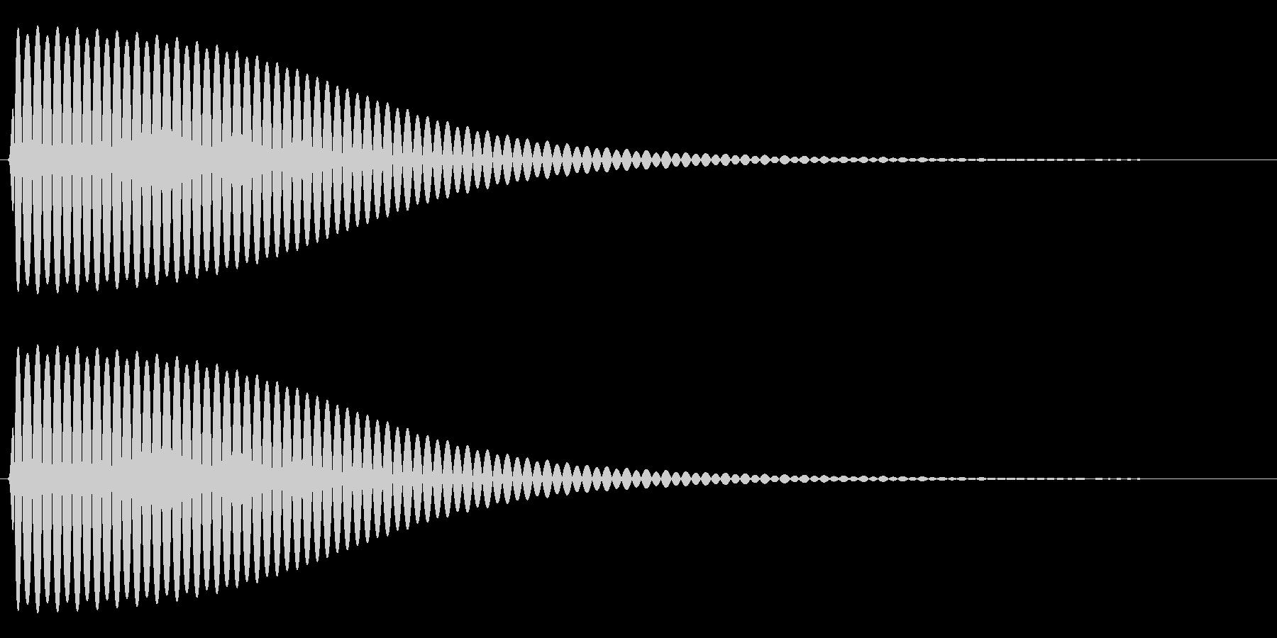 Com ファミコンなどのコマンド音 4の未再生の波形