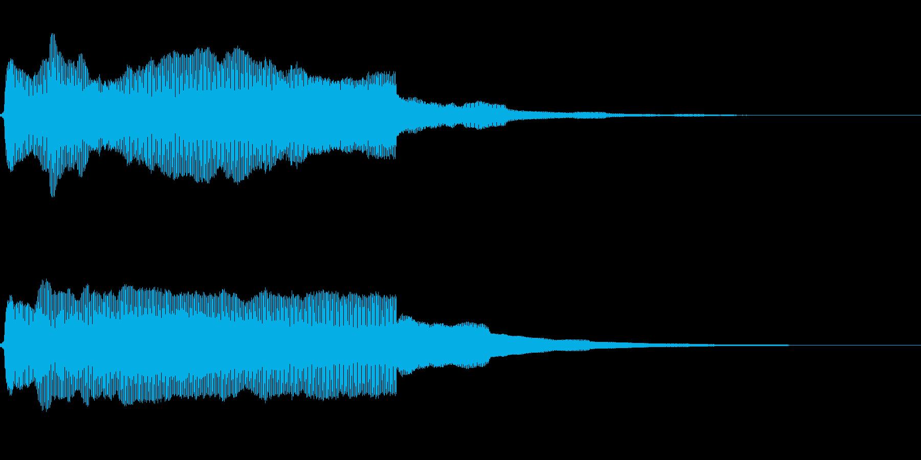 大型船の汽笛(遠距離)の再生済みの波形