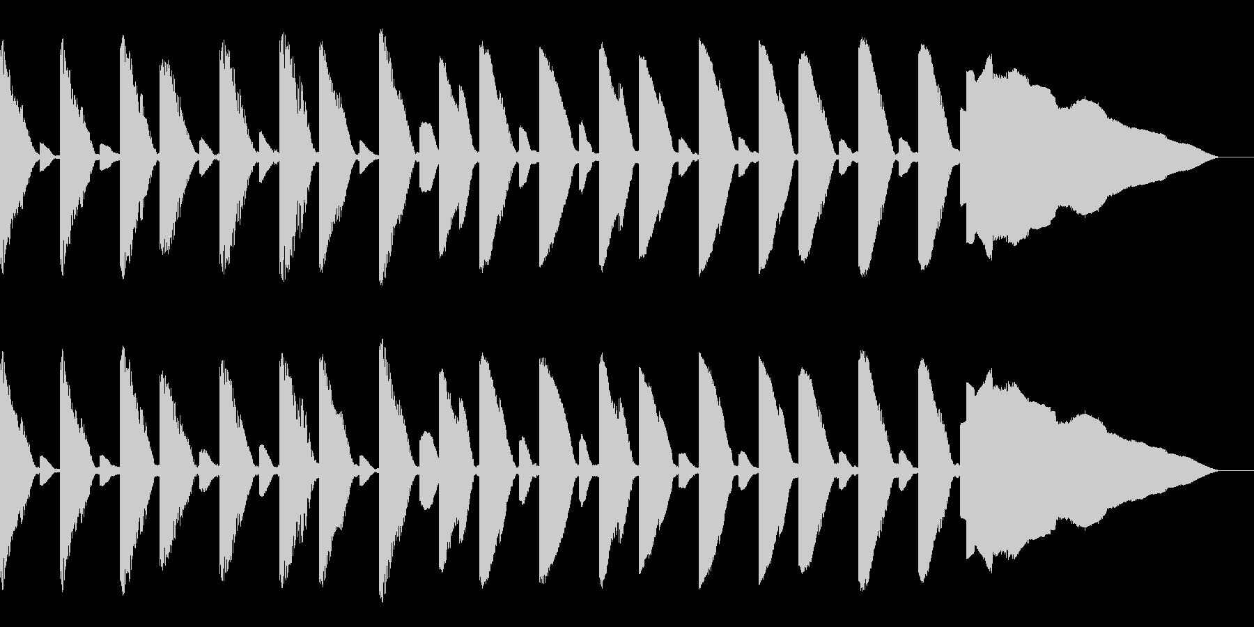 ゲームのようなBGMの未再生の波形