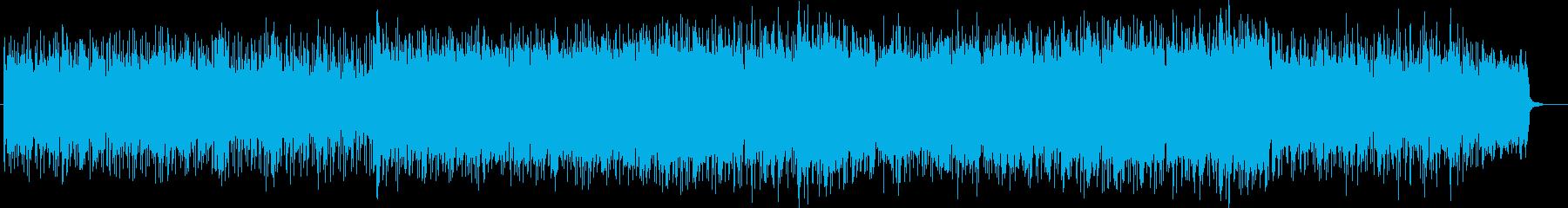 森にいる感覚のするニューエイジBGMの再生済みの波形