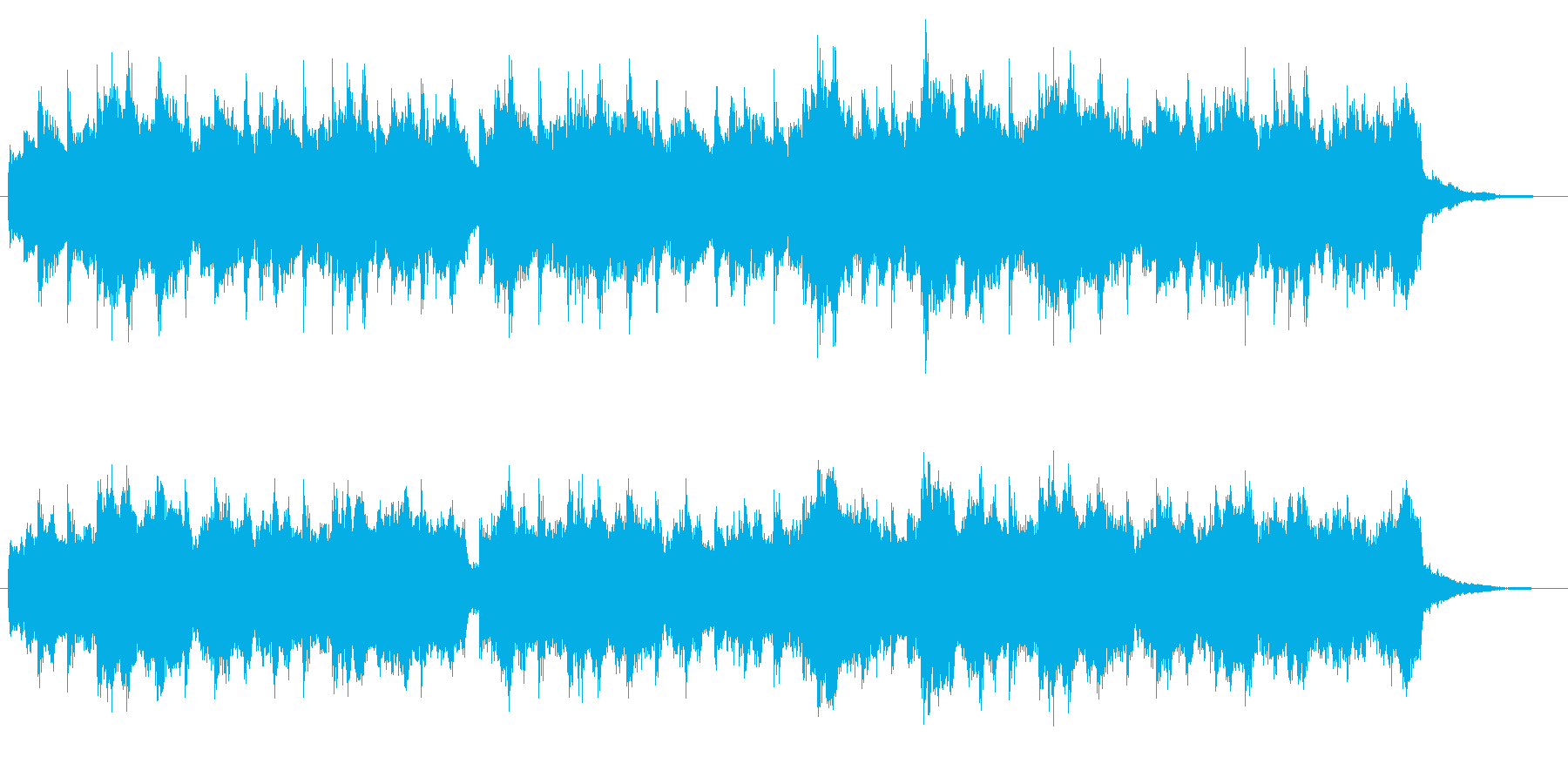 切ない感じのストリングスの再生済みの波形
