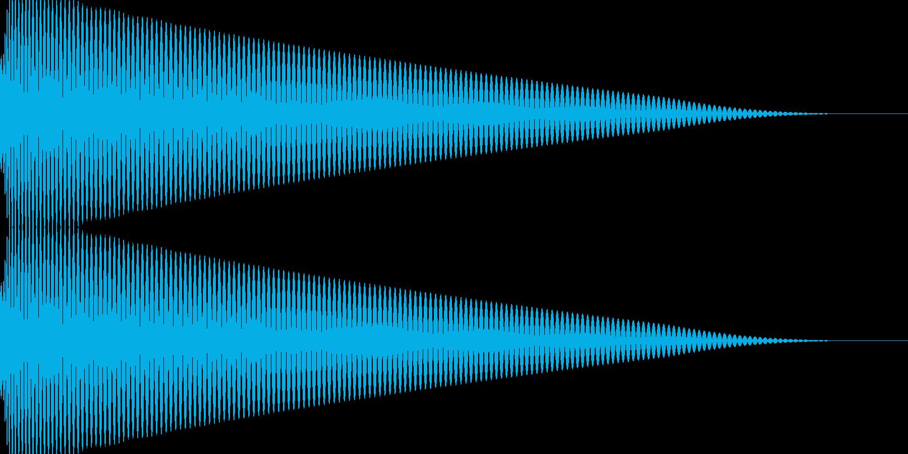 ピュルルル~↓ 体力ダウン 収縮 落下の再生済みの波形