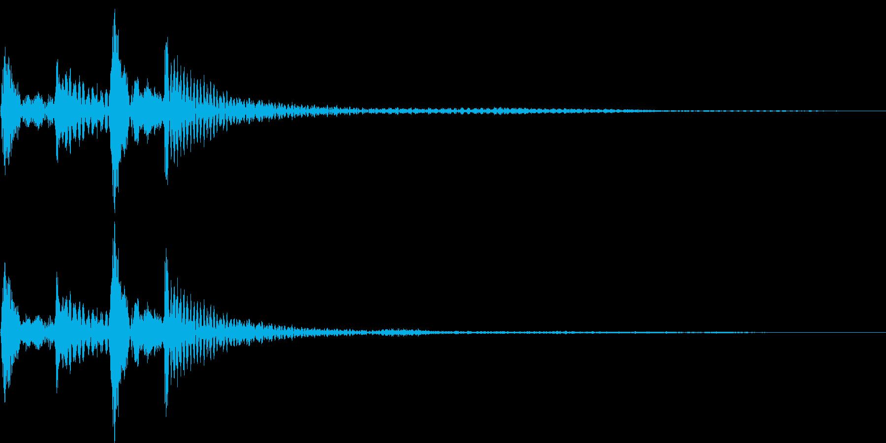 ポコポカン(スワイプ、決定、移動)の再生済みの波形