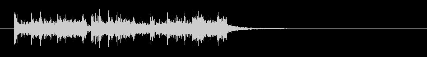 ボサノバ調の軽いポップスの未再生の波形