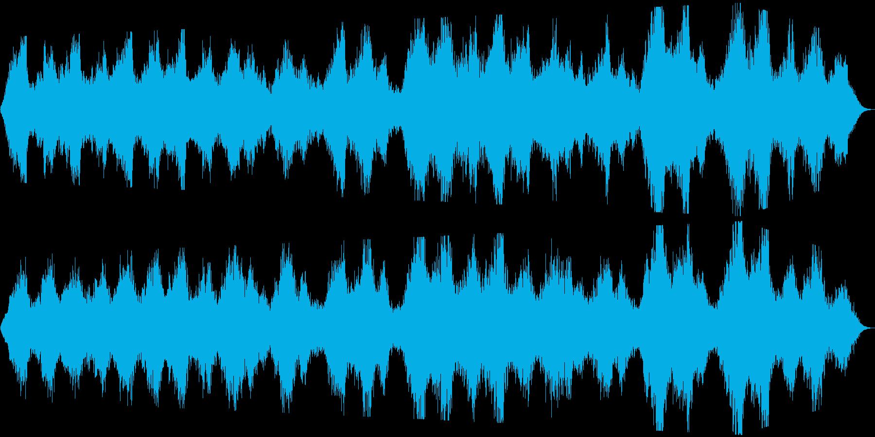 優しく静かな内省的ヒーリング系BGMの再生済みの波形