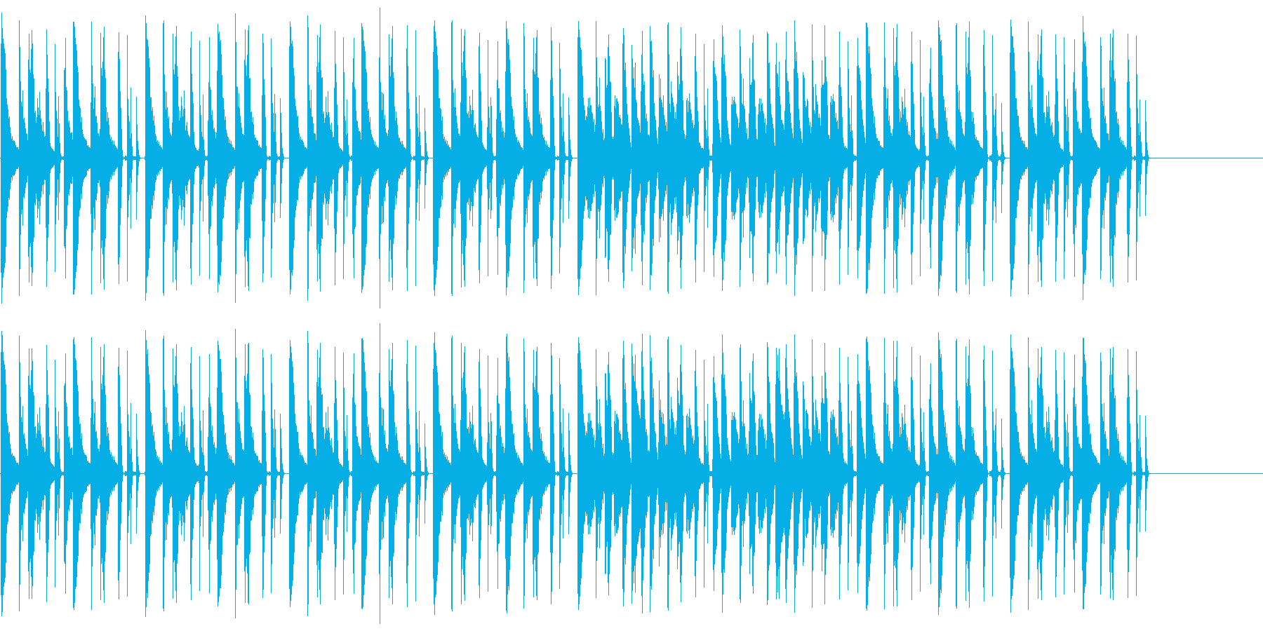 CM等で使われる事を想定した短い曲の再生済みの波形