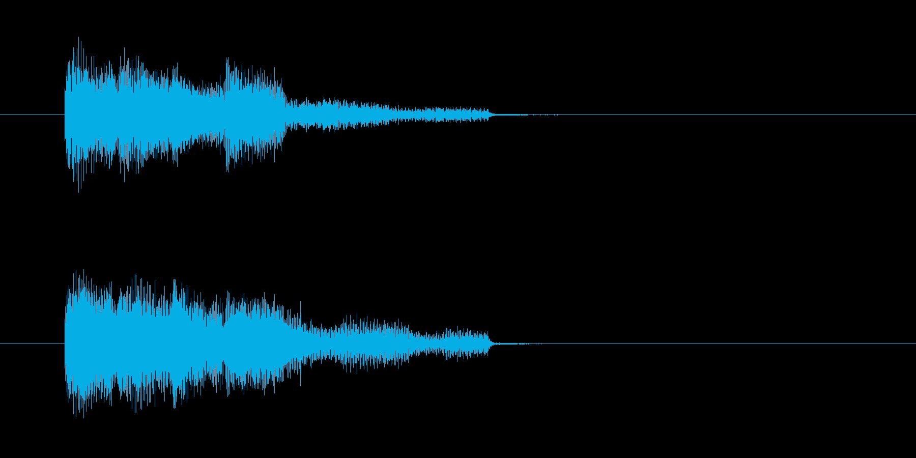 緊張感の漂う響きのバンド演奏のジングル曲の再生済みの波形