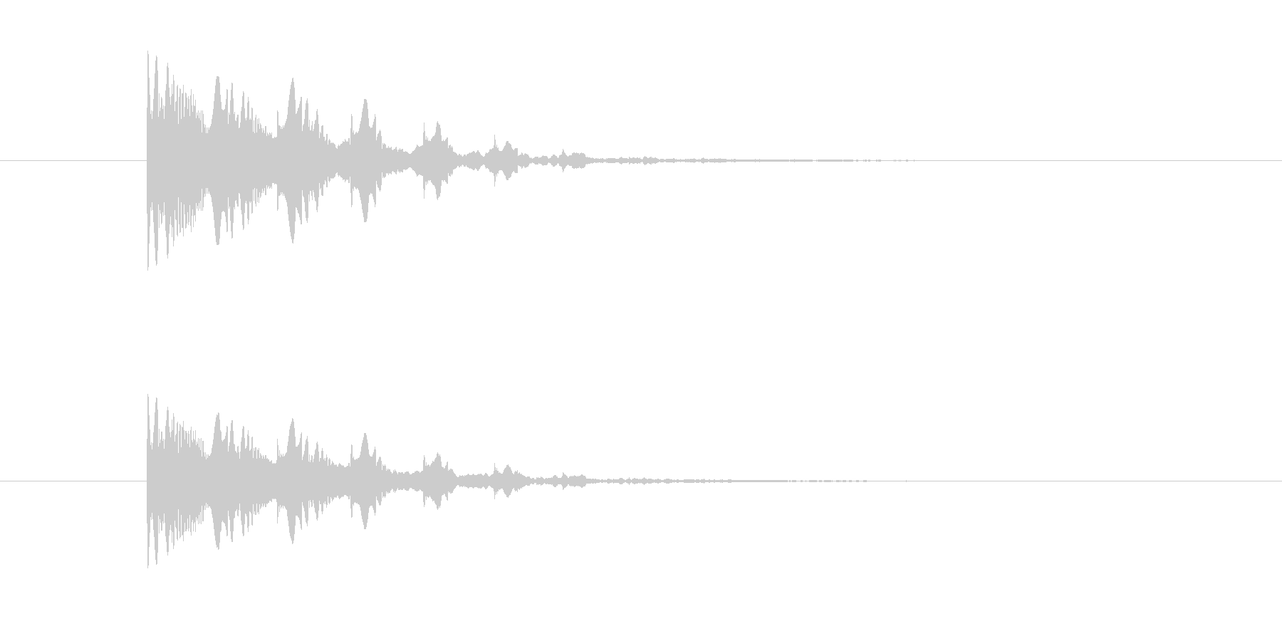 ポヨヨヨン(マシーン、脱力)の未再生の波形