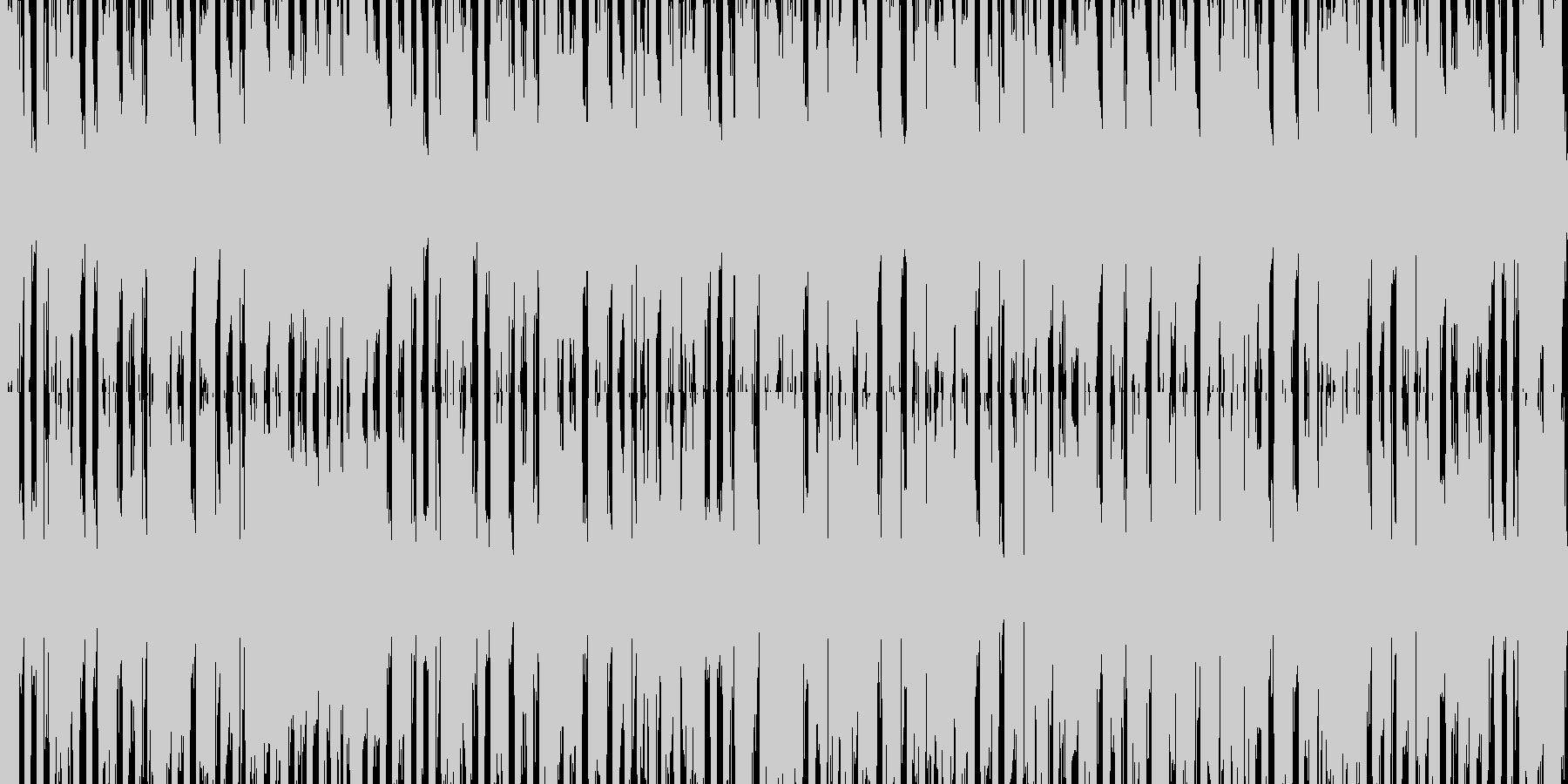 ジングルベル スキャット入り2 ループの未再生の波形