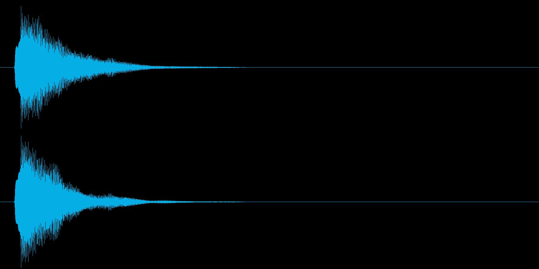 アプリ・ゲームの決定音_015の再生済みの波形