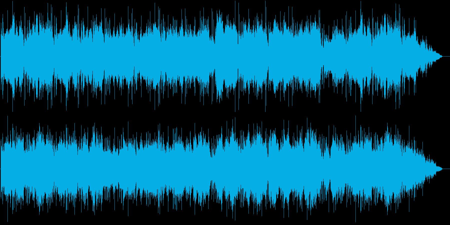 木管とストリングスの海を漂うような曲の再生済みの波形