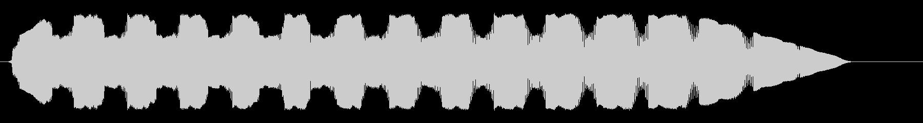 ピロピロピューンUFOの高音のループ音の未再生の波形