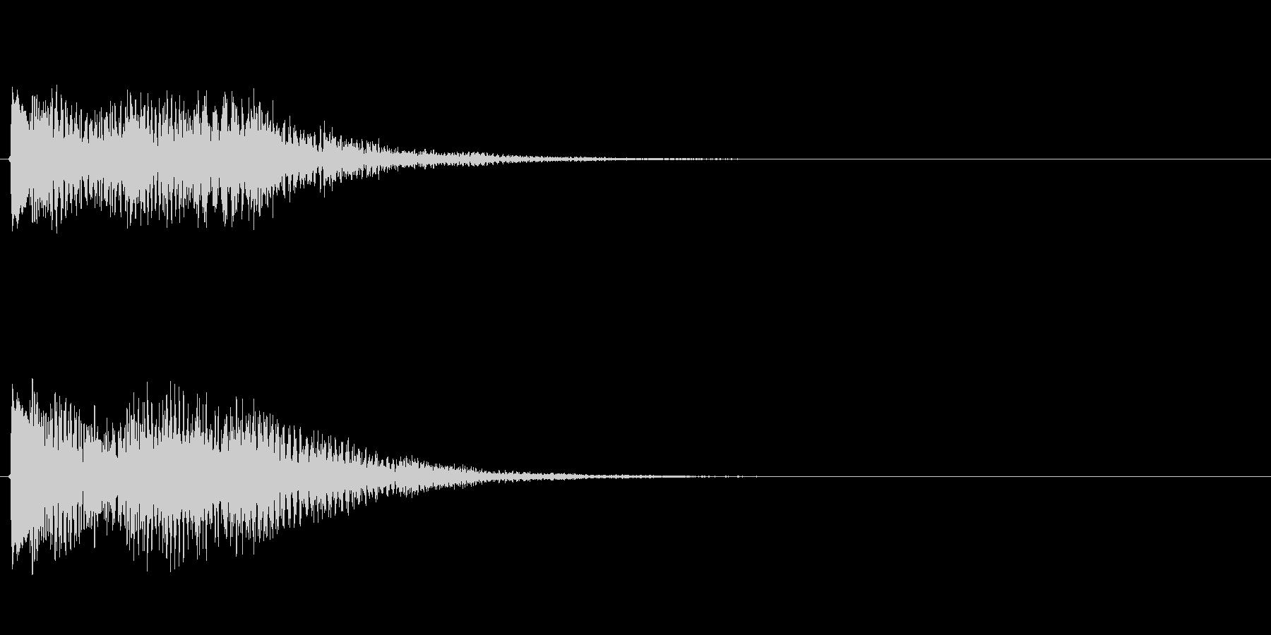 キラキラしたベルの下降音6の未再生の波形