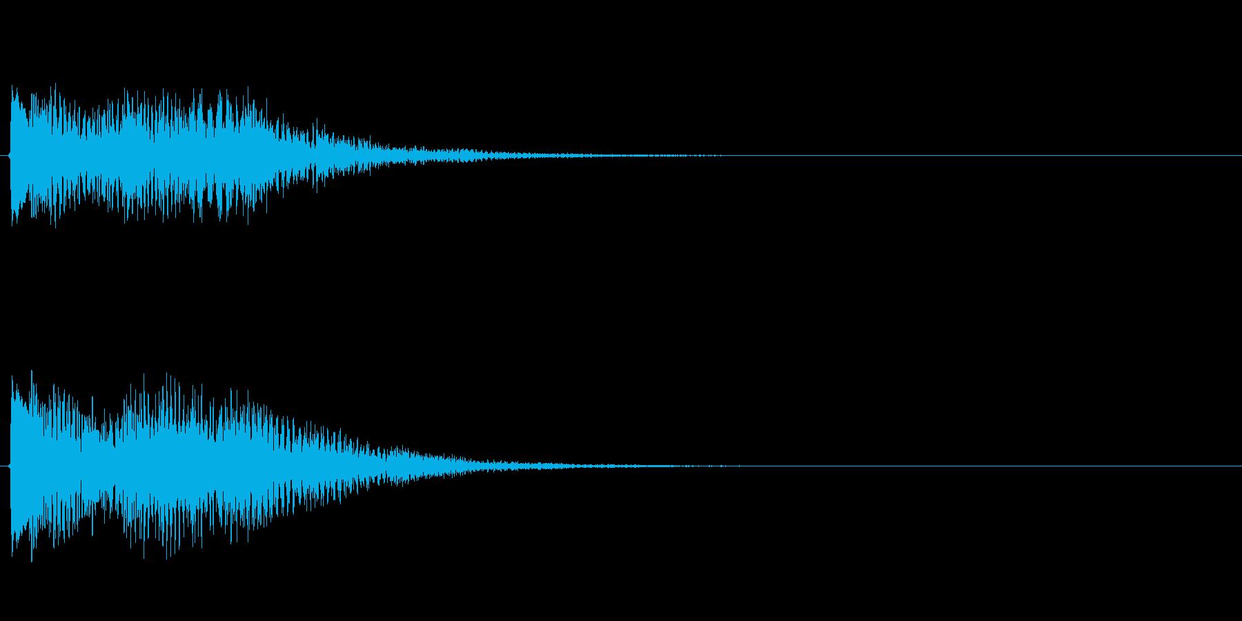 キラキラしたベルの下降音6の再生済みの波形