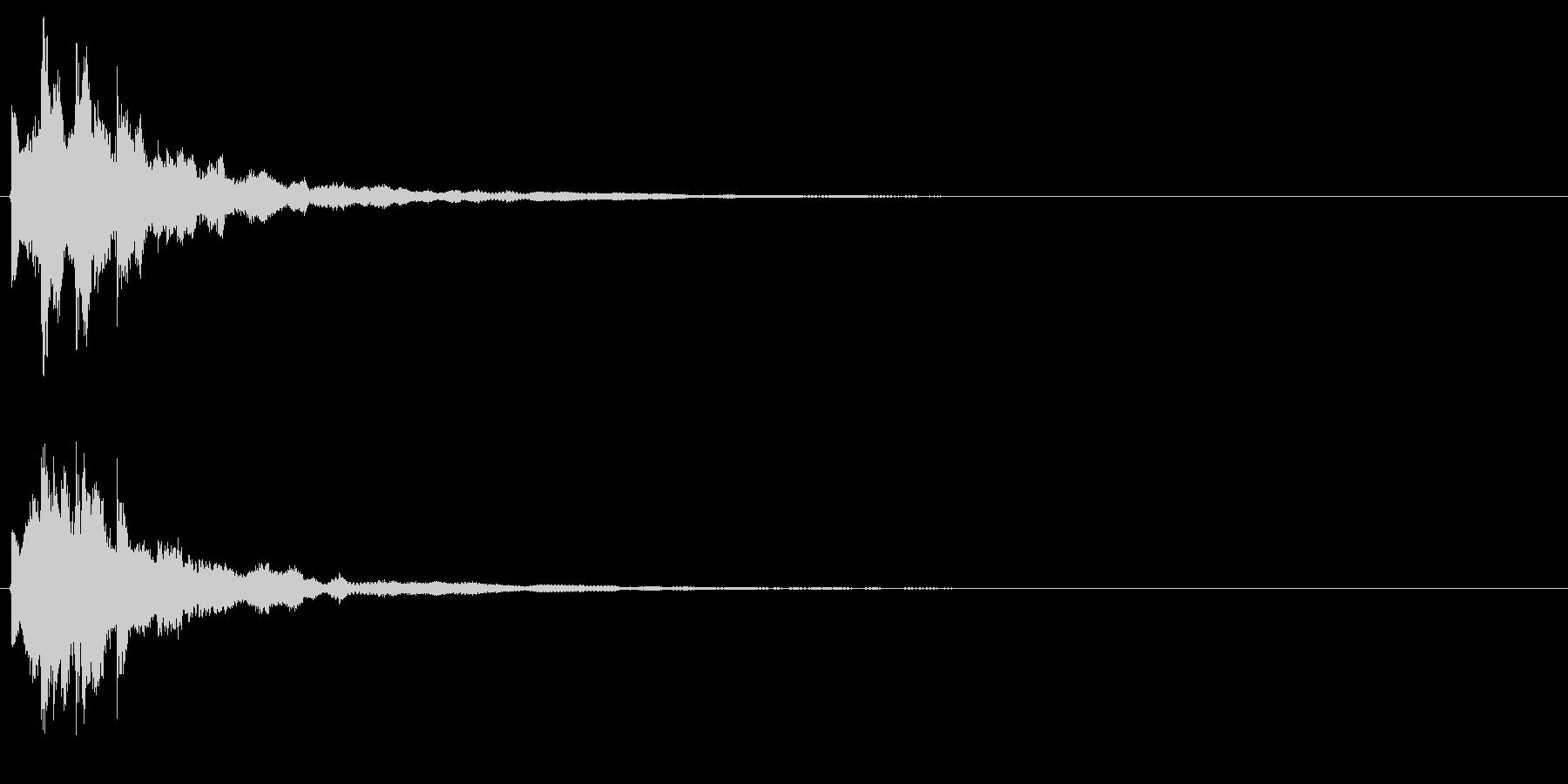キラッ(閃く、決定、セーブ)の未再生の波形