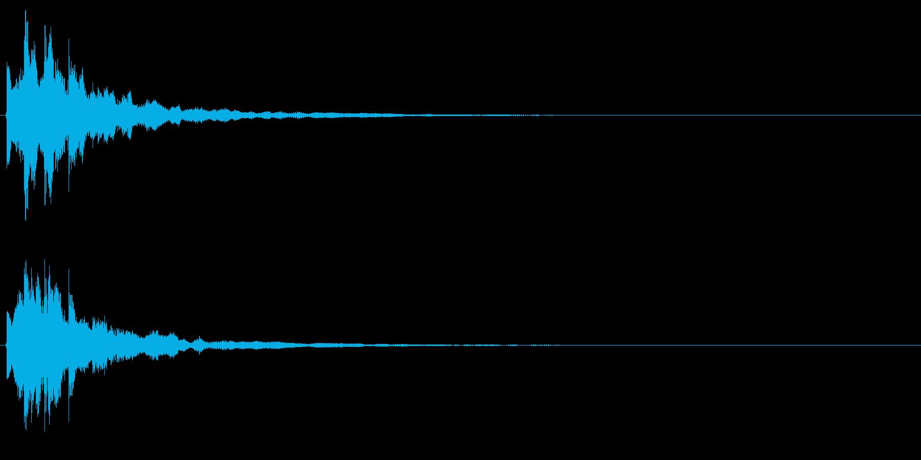 キラッ(閃く、決定、セーブ)の再生済みの波形