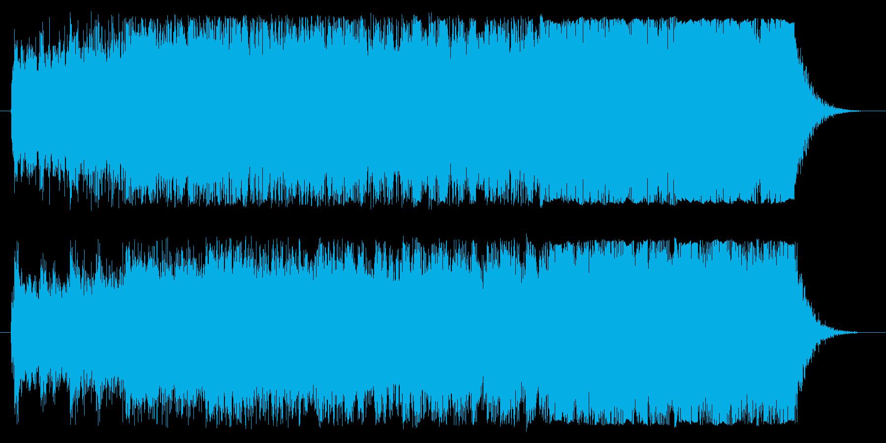 洋画のかっこいい予告編のような音楽です。の再生済みの波形