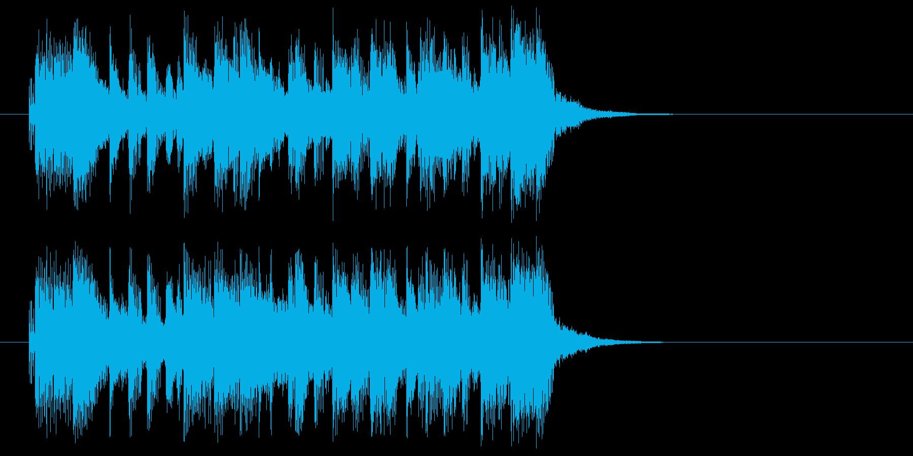 ジングル(バラエティ風)の再生済みの波形
