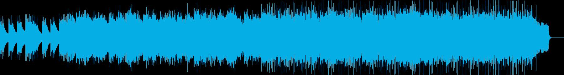 ゆったりとエキゾチックな雰囲気のBGMの再生済みの波形