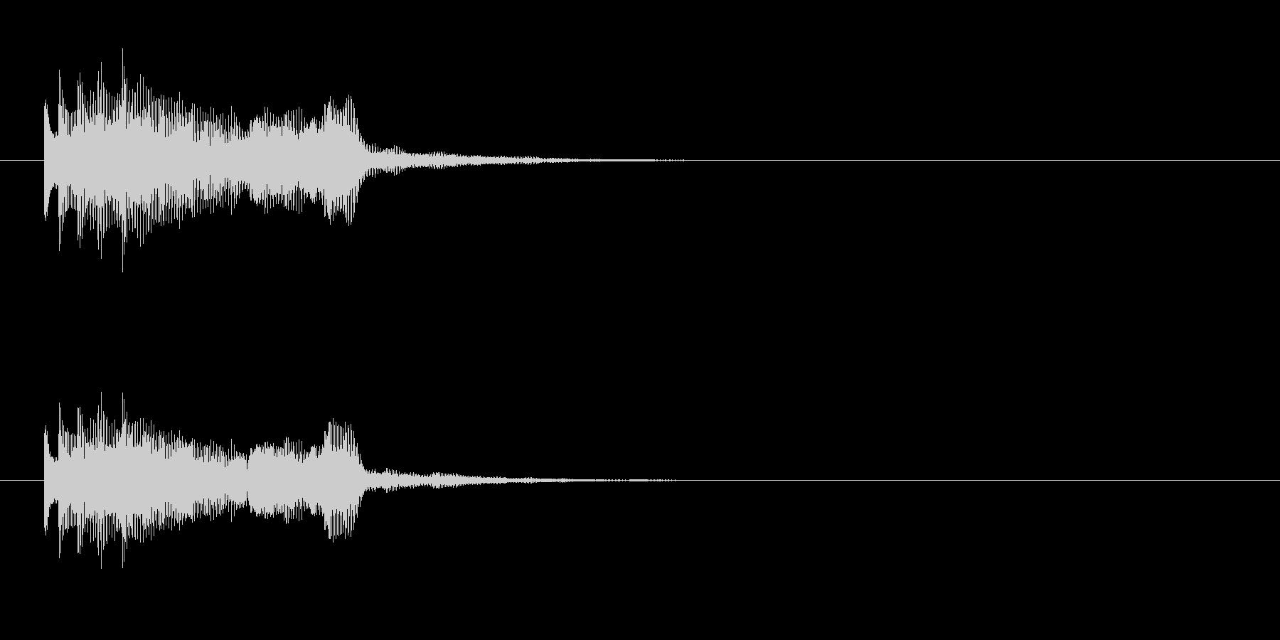 テレレレレ~の未再生の波形