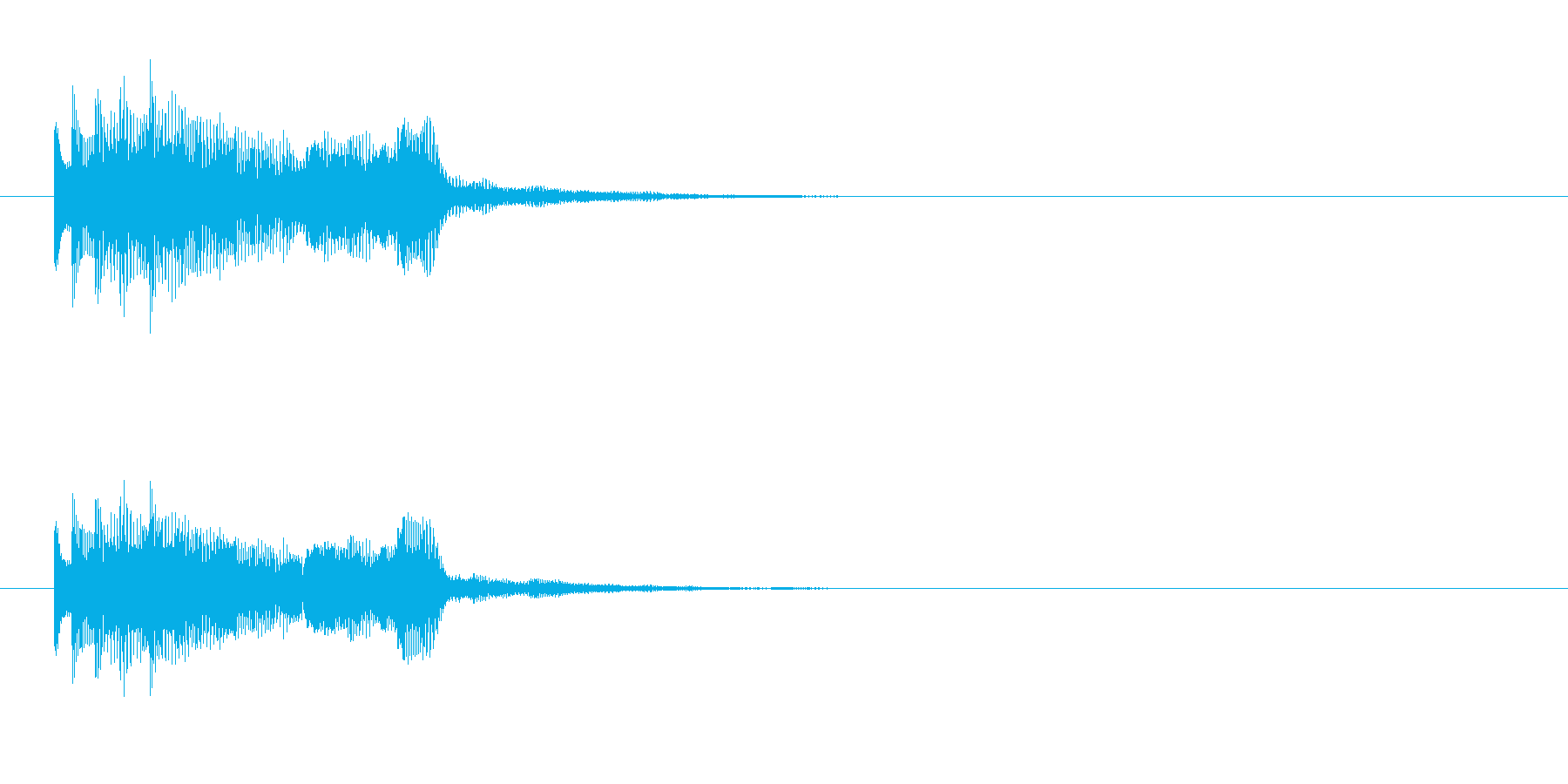 テレレレレ~の再生済みの波形