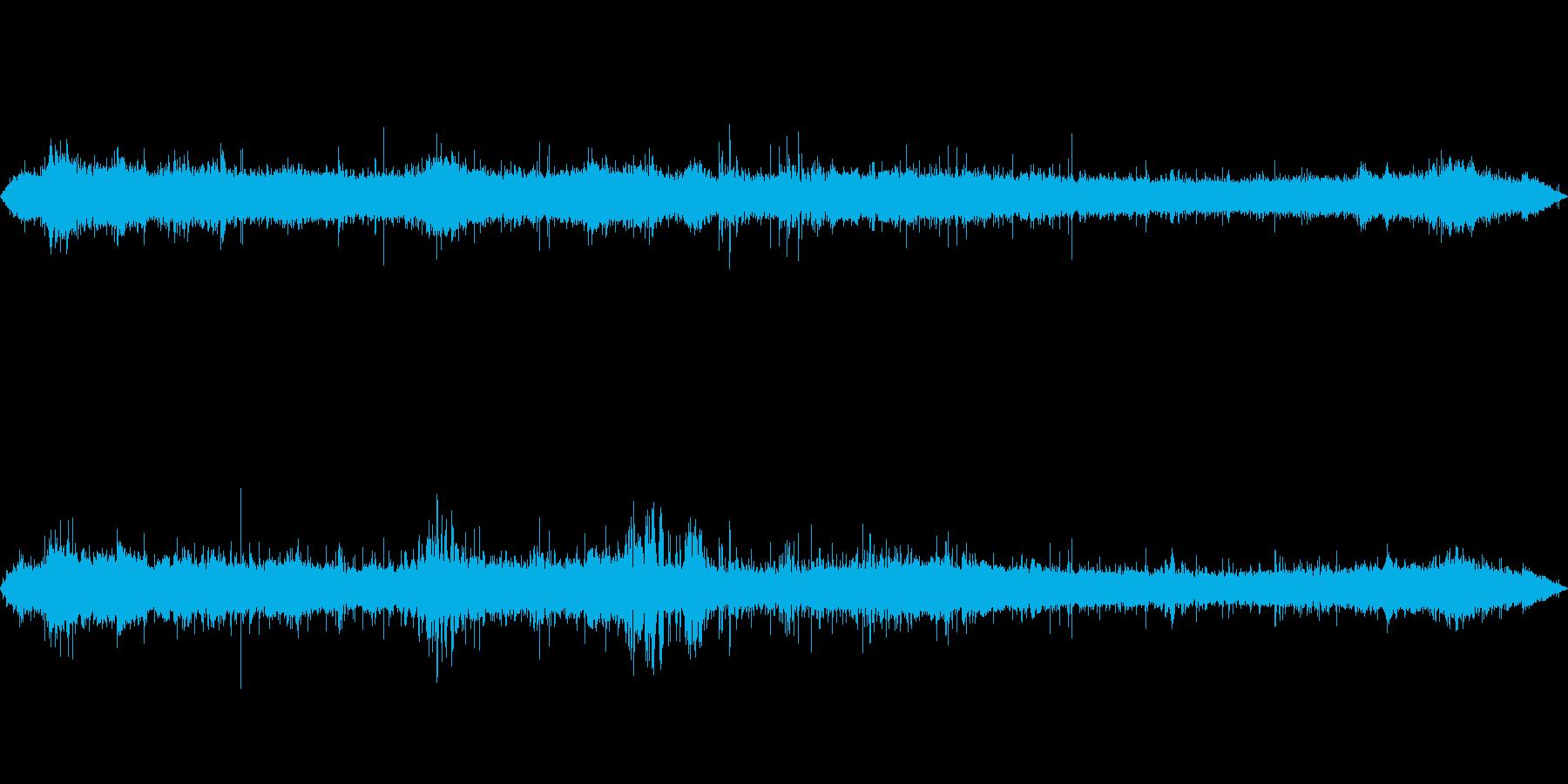 【環境音】渋谷/雑踏(バイノーラル録音)の再生済みの波形
