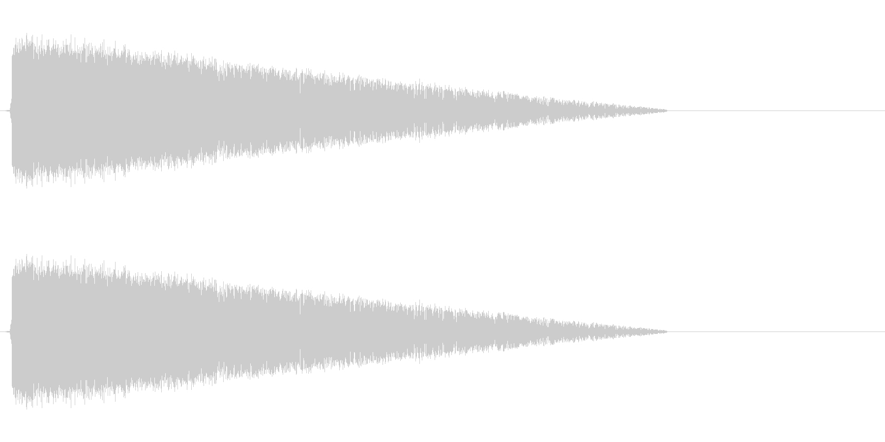 ピシャーン(雷魔法、レトロゲーム)の未再生の波形