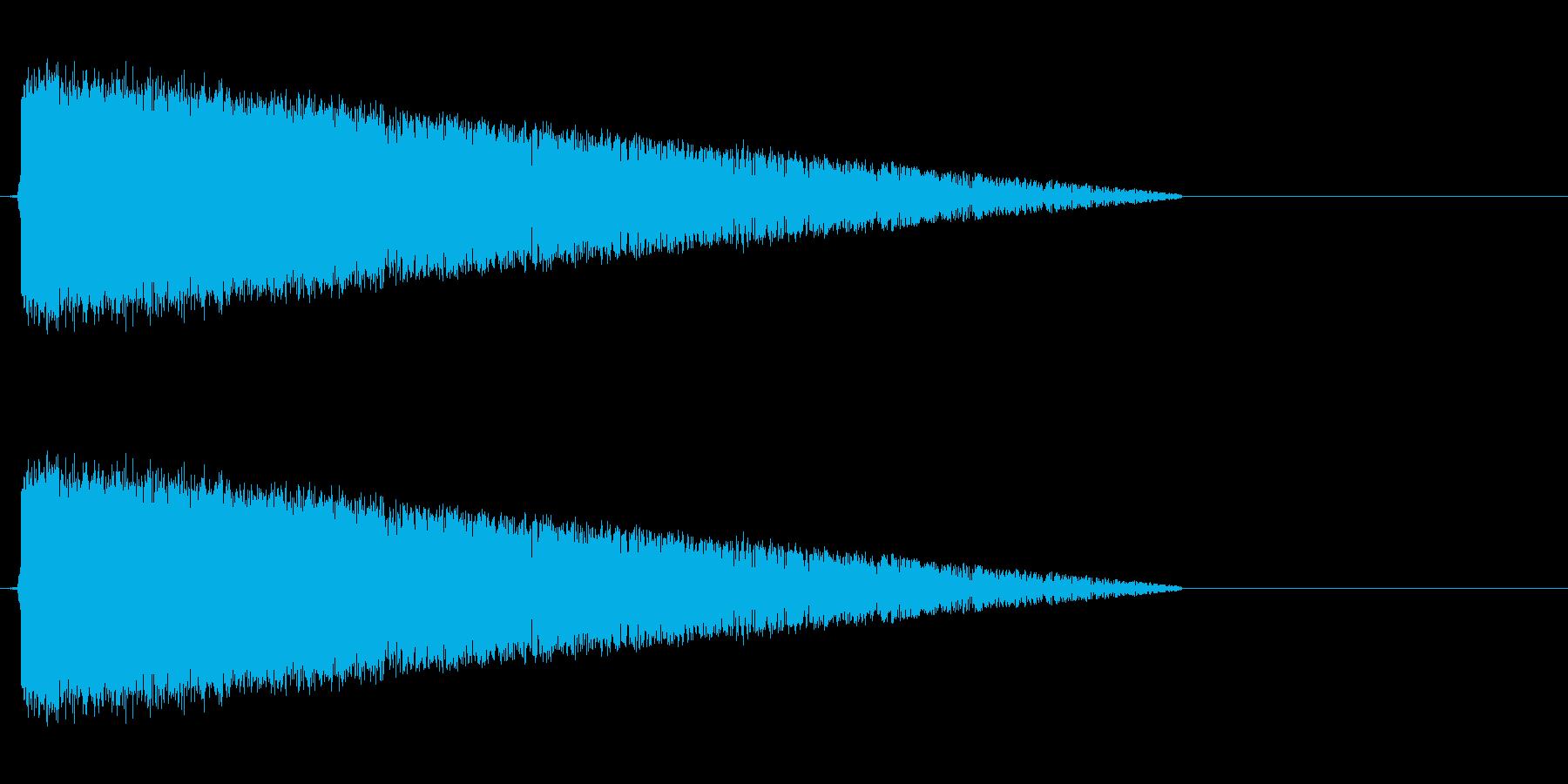 ピシャーン(雷魔法、レトロゲーム)の再生済みの波形
