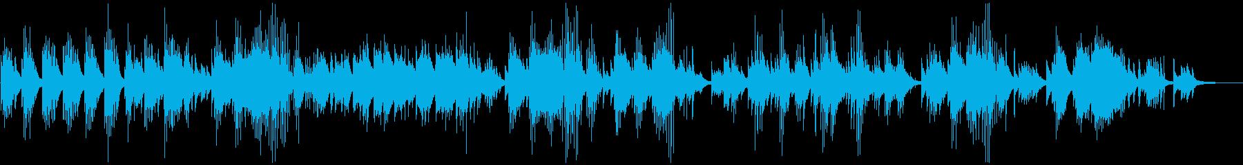 ゆったりとした柔らかいピアノメロディーの再生済みの波形
