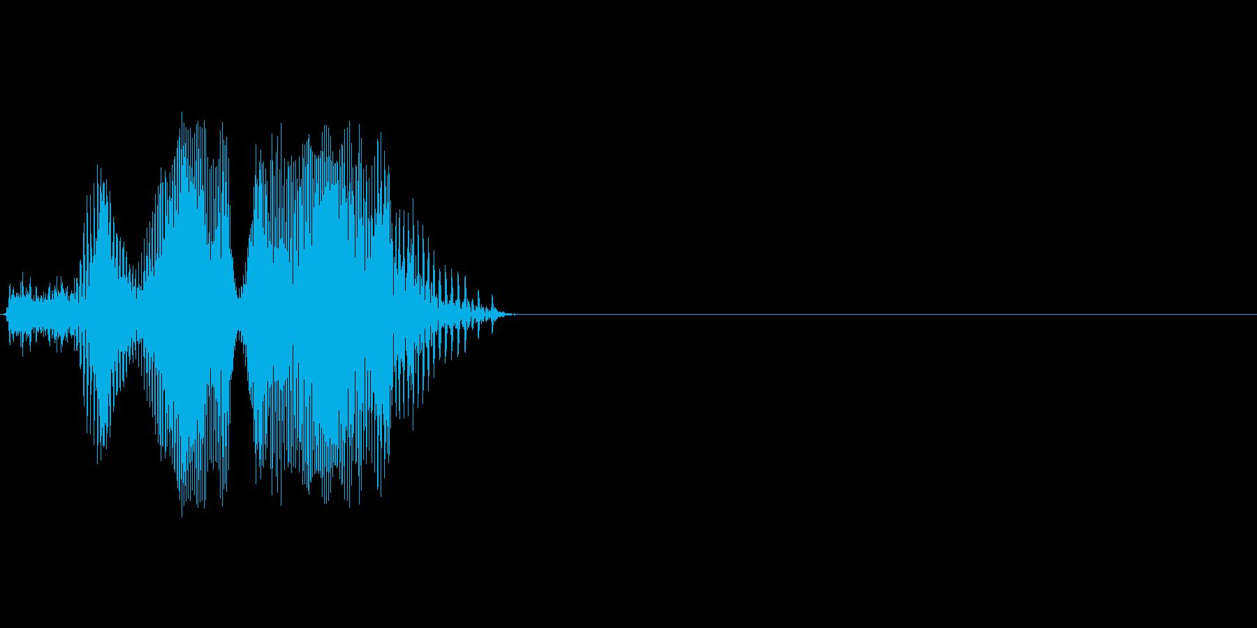 こら!の再生済みの波形