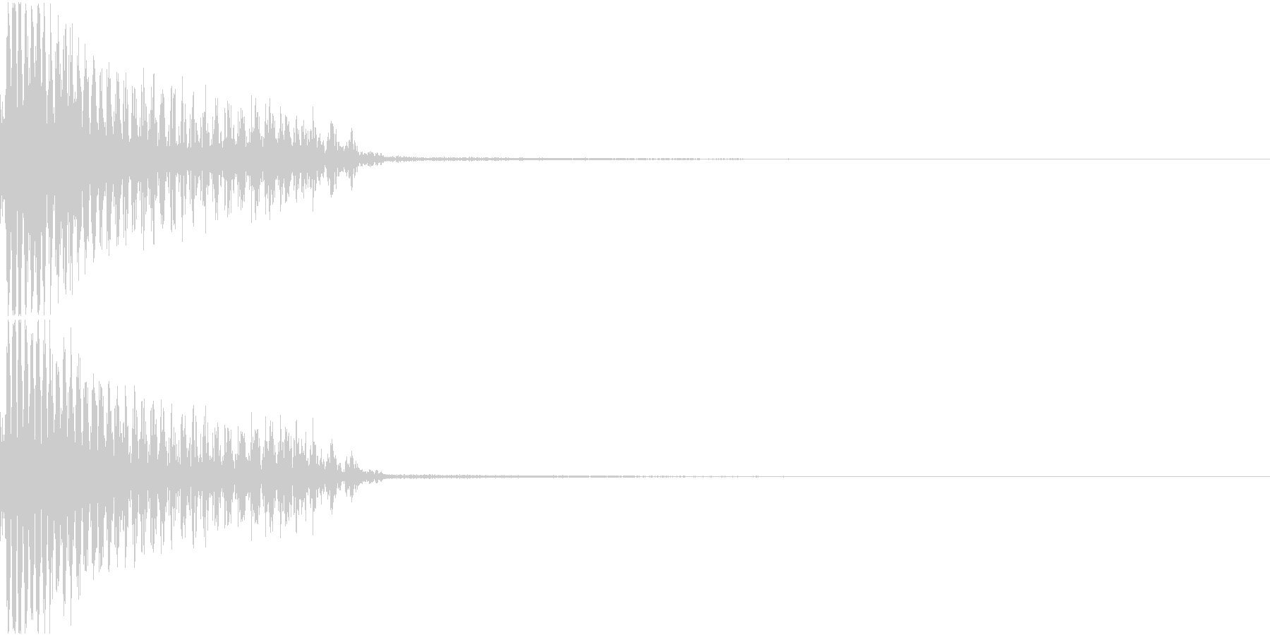 InvaderBuzz 発砲音 18の未再生の波形