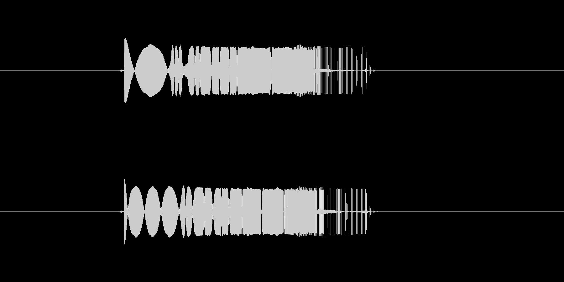 キューン (ビームの発射音)の未再生の波形