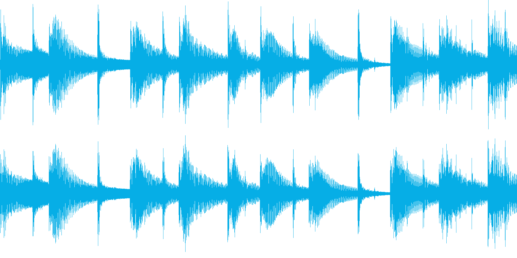 ジャングル熱帯リゾートのBGM_LOOPの再生済みの波形