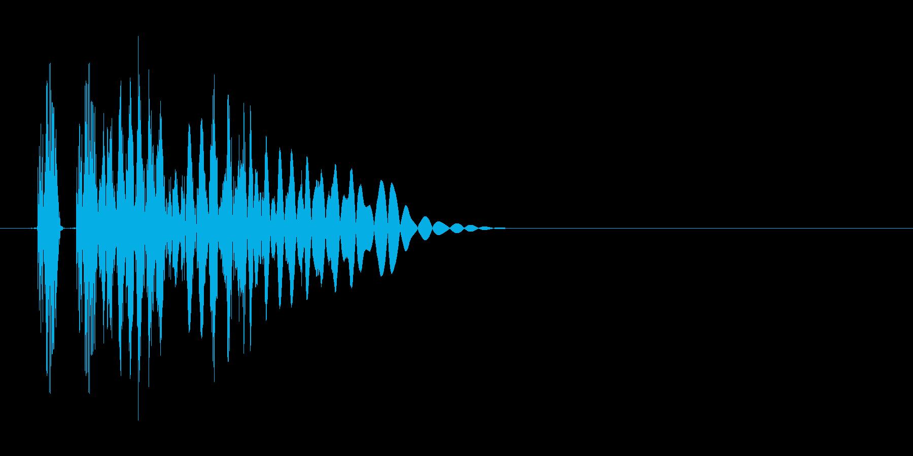 ヒット音。重い音。「ズドン」の再生済みの波形