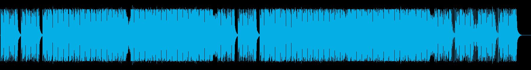 エネルギー溢れるテクノBGMの再生済みの波形