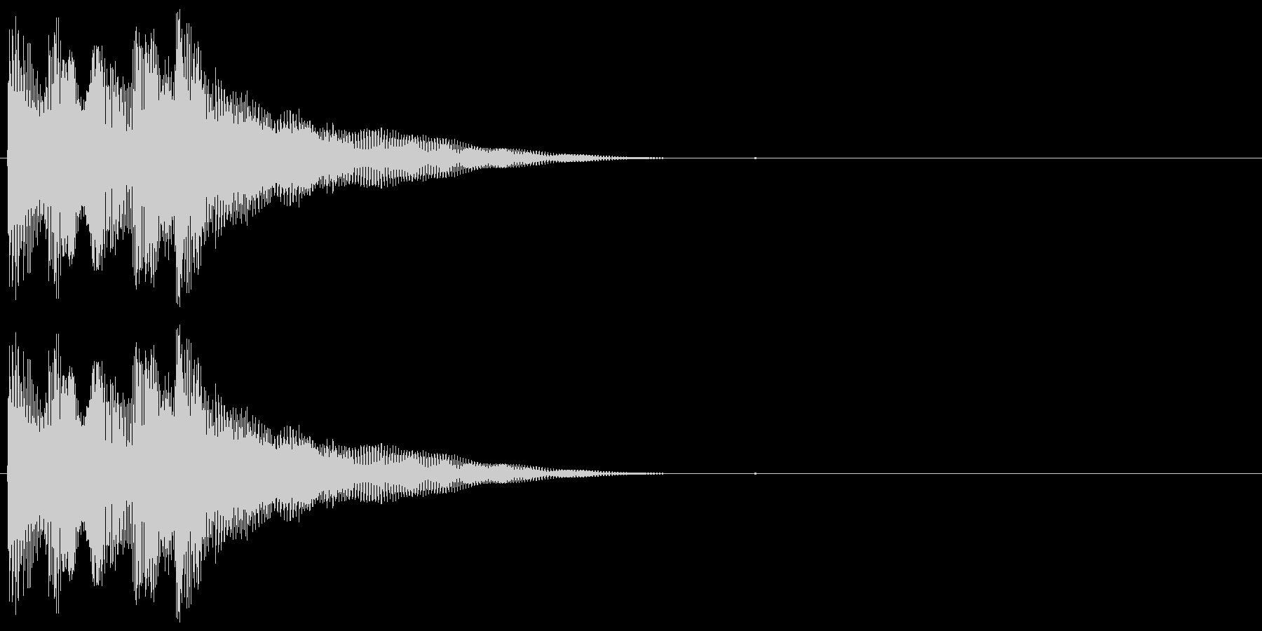 ボヨヨーンとした音色のサウンドロゴの未再生の波形