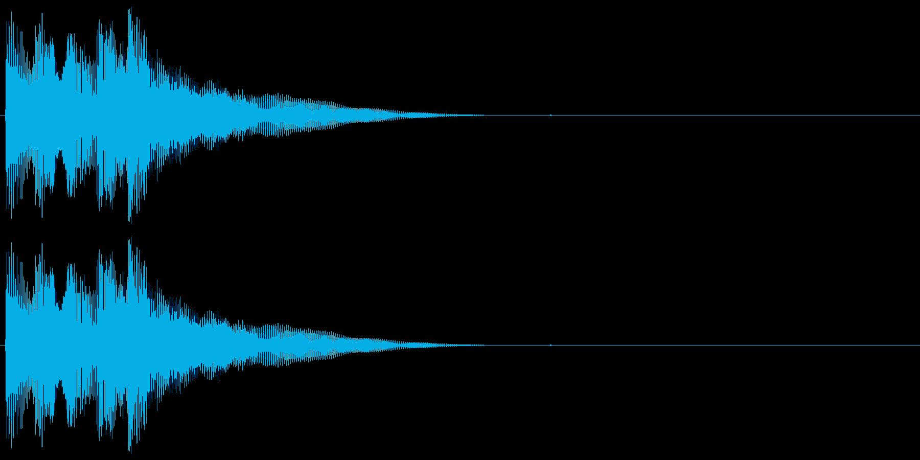 ボヨヨーンとした音色のサウンドロゴの再生済みの波形