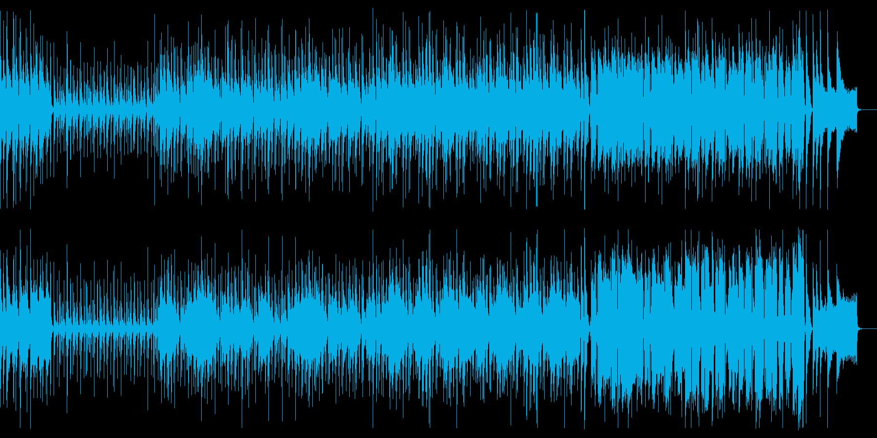 三味線と笛の浮かれたムードの和風曲の再生済みの波形